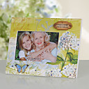 Flower and Butterfly Natural Style Wooden Picture Frame