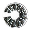 White Acrylic Rhinestones Silver Bottom Nail Art Decoration Mixed Sizes